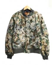 GOLDEN FLEECE(ゴールデンフリース)の古着「カモ柄MA-1ジャケット」|オリーブ