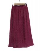 IENA(イエナ)の古着「レースプリーツスカート」|パープル