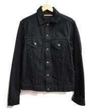 SCYEBASICS(サイベーシックス)の古着「デニムジャケット」|ブラック