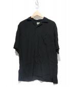 gold(ゴールド)の古着「オープンカラースカシャツ」 ブラック