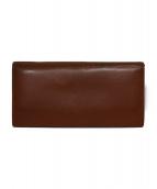 土屋鞄(ツチヤカバン)の古着「2つ折り長財布」|ブラウン