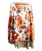 rinascimento(リナシメント)の古着「花柄スカート」|マルチカラー
