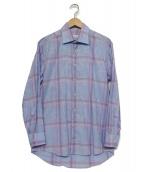 ETRO(エトロ)の古着「チェックシャツ」|パープル×ブルー