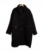 UNUSED(アンユーズド)の古着「ステンカラーコート」|ボルドー