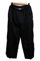 maturely(マチュアリー)の古着「サイドラインパンツ」|ブラック×パープル