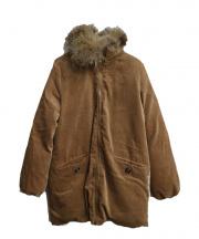 Rouge vif(ルージュ・ヴィフ ラクレ)の古着「コーデュロイリバーシブルダウンジャケット」