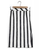 Viaggio Blu(ヴィアッジョブル)の古着「イージータイトスカート」|ホワイト×ネイビー