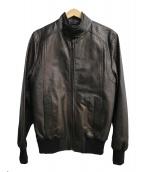 DOLCH&GABBANA(ドルチェアンドガッバーナ)の古着「レザージャケット」|ブラック×ゴールド