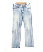 Ameri VINTAGE(アメリビンテージ)の古着「REMAKE DENIM PANTS」 スカイブルー