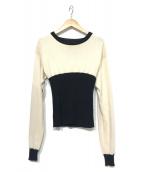 MM6(エムエムシックス)の古着「ニット」|ホワイト×ブラック