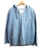 ALLEGE(アレッジ)の古着「フード付プルオーバーデニムシャツ」|インディゴ
