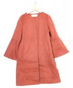 ANAYI(アナイ)の古着「ノーカラーコート」|ピンク