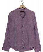 HONOR GATHERING(オナーギャザリング)の古着「リネンシャツ」 パープル