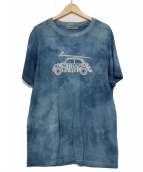 CASHYAGE(カシヤージュ)の古着「カシミヤプリントTシャツ」|ブルー