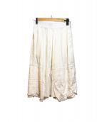 COMME des GARCONS(コムデギャルソン)の古着「レースデザインスカーート」|ホワイト