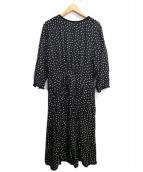 SINME(シンメ)の古着「ブラウスワンピース」|ホワイト×ブラック