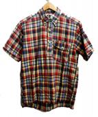 Engineered Garments(エンジニアードガーメン)の古着「プルオーバーシャツ」|レッド