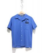 Hysteric Glamour(ヒステリックグラマ)の古着「オープンカラーシャツ」|ブルー