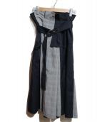 furfur(ファーファー)の古着「アシンメトリータックスカート」