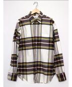 Black Fleece(ブラックフリース)の古着「ボタンダウンシャツ」|ブラウン×ホワイト