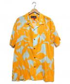 DOUBLE RAINBOUU(ダブルレインボー)の古着「オープンカラーシャツ」|オレンジ×スカイブルー