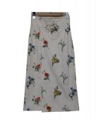 MACPHEE(マカフィー)の古着「エンブロイダリーハイウエストスカート」|ホワイト