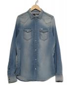 DIESEL(ディーゼル)の古着「デニムウエスタンシャツ」|インディゴ