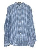 nestrobe confect(ネストローブ コンフェクト)の古着「リネンシャツ」 ホワイト×ブルー