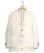 Paul Stuart(ポールスチュアート)の古着「スクエア組織ジャケット」|ホワイト