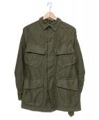 Drawer(ドロワー)の古着「ベルト付ミリタリーシャツ」 グリーン