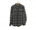 Saint Laurent Paris(サンローランパリ)の古着「チェックシャツ」|ブラック