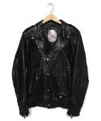 DIESEL(ディーゼル)の古着「ラムレザーライダースジャケット」|ブラック
