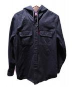 Supreme(シュプリーム)の古着「フーデッドワークシャツ」|ブラック