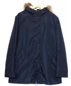 MAISON KITSUNE(メゾンキツネ)の古着「ライナー付きモッズコート」|ネイビー