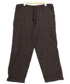 YOHJI YAMAMOTO(ヨウジヤマモト)の古着「ワイドウールパンツ」|ブラウン