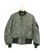 Buzz Ricksons(バズリクソンズ)の古着「MA-1ジャケット」|グリーン