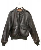 AVIREX(アヴィレックス)の古着「A-1 レザージャケット」|ブラウン