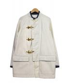 UNITED ARROWS & SONS(ユナイテッドアローズアンドサンズ)の古着「メタルトグルカバーオール」 ホワイト