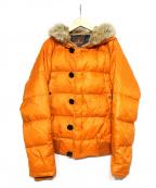 MONCLER(モンクレール)の古着「フーデットダウンジャケット」|オレンジ
