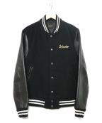 Jelado(ジェラード)の古着「袖切替スタジャン」 ブラック