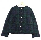 Traditional Weatherwear(トラディショナル ウェザーウェア)の古着「キルティングノーカラージャケット」 グリーン