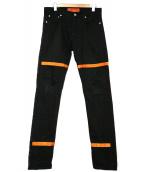 HERON PRESTON(ヘロン プレストン)の古着「デニムパンツ」|ブラック