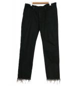 UNITED ARROWS & SONS(ユナイテッドアローズアンドサンズ)の古着「カットオフデニム」 ブラック