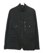 COMME des GARCONS HOMME(コムデギャルソンオム)の古着「縮絨ジャケット」 ブラック