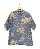PHIL EDWARDS(フィルエドワード)の古着「半袖シャツ」 ブルー