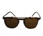 金子眼鏡(カネコメガネ)の古着「クリップオンサングラス」|ブラウン