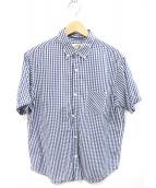 THE NORTH FACE(ザノースフェイス)の古着「半袖シャツ」 ホワイト×ブルー