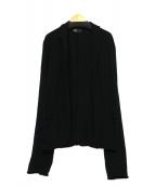 KOLOR(カラ)の古着「トッパーカーディガン」|ブラック