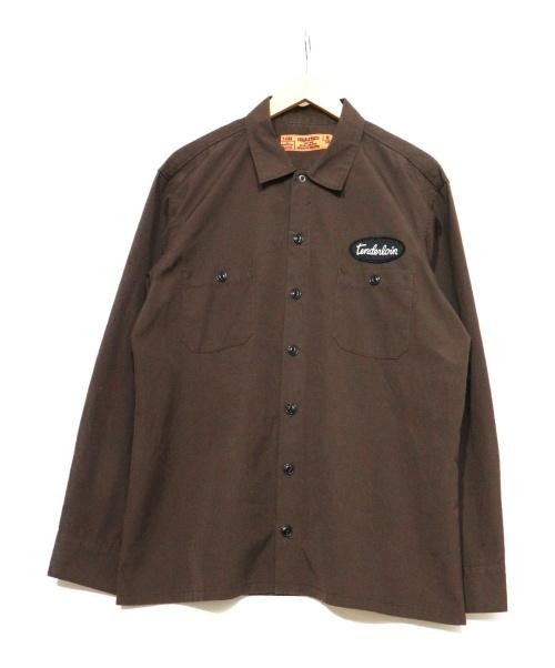 TENDERLOIN(テンダーロイン)TENDERLOIN (テンダーロイン) ワークシャツ ブラウン サイズ:表記Mの古着・服飾アイテム