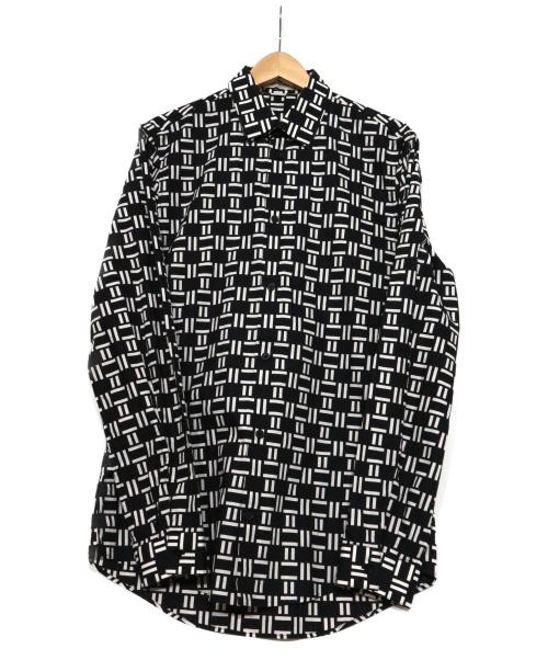 BALENCIAGA(バレンシアガ)BALENCIAGA (バレンシアガ) 総柄シャツ ブラック×ホワイト サイズ:表記39の古着・服飾アイテム